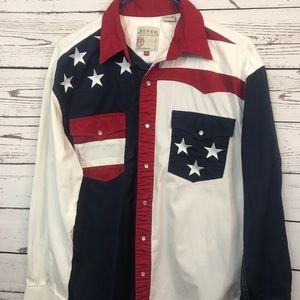 Roper western wear USA themed Fourth of July